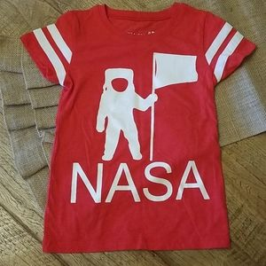 NWOT NASA tshirt for girls, sparkly, space, moon